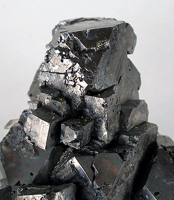 A picture of galena (lead sulfide), which scientists once thought was related to graphite.  Source: Rob Lavinsky (CC BY-SA)