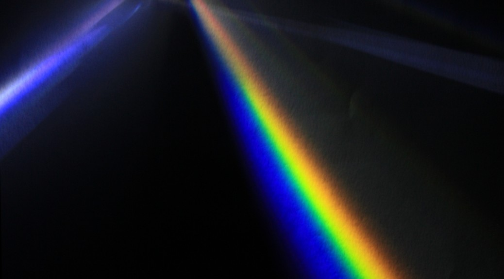 Light dispersion of a mercury-vapor lamp with a prism made of flint glass